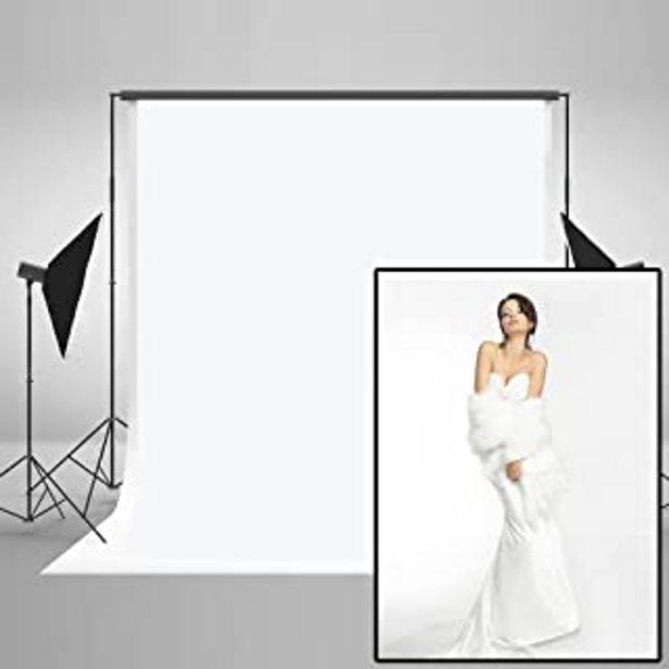 Oferta de KateHome PHOTOSTUDIOS 1.5x2.2M Sin Arrugas Telones Blancos para fotógrafos Fotografía Foto Fondo Prop por 13,99€
