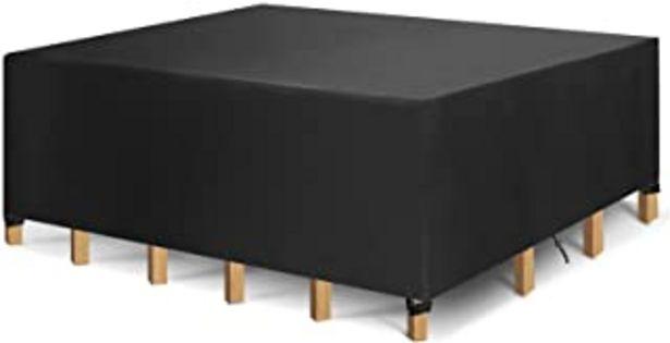 Oferta de Funda Protectora para Muebles, Funda para Muebles de Jardín Impermeable, Cubierta de Mesa de Jardín, Tela 420D Oxford, Imp... por 19,99€