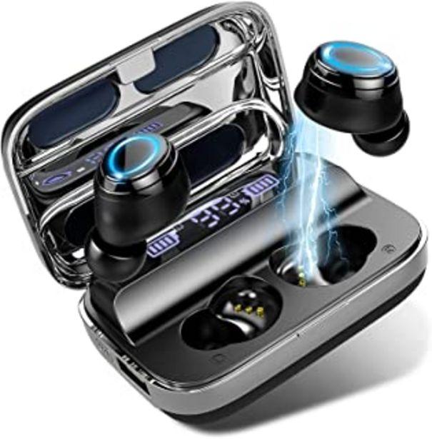 Oferta de Auriculares Bluetooth 5.0 Inalámbricos Deportivos Auriculares In-Ear IP7 Impermeable Sonido Estéreo 6D, Autonomía Auto-On/... por 24,99€