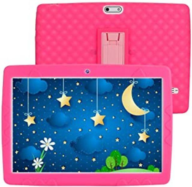 Oferta de Tablet para Niños de 10 Pulgadas, SANNUO Android 9.0 Tablet Infantil, 3GB RAM y 32GB ROM, IPS 1280 * 800, Cámara 2MP + 5MP... por 89,98€