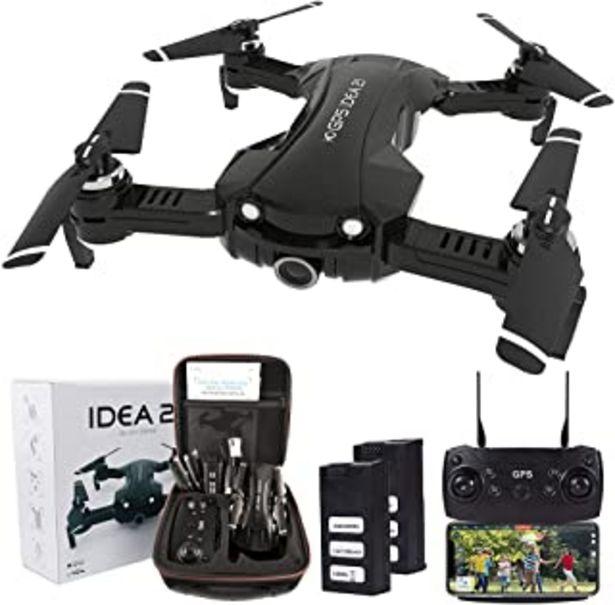Oferta de Drone Plegable con Camara 4K HD, 5GHz WiFi FPV Drone GPS, Drones RC con Camara Profesional, Modo sin Cabeza para Niños & P... por 189,99€