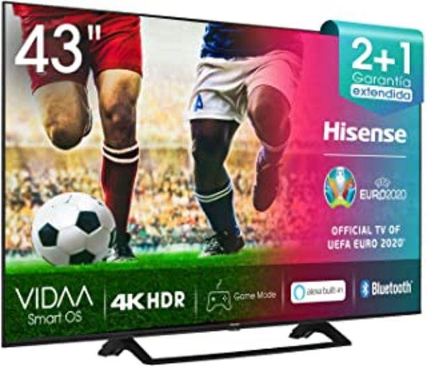 Oferta de Hisense UHD TV 2020 43AE7200F - Smart TV Resolución 4K con Alexa integrada, Precision Colour, escalado UHD con IA, Ultra D... por 379€