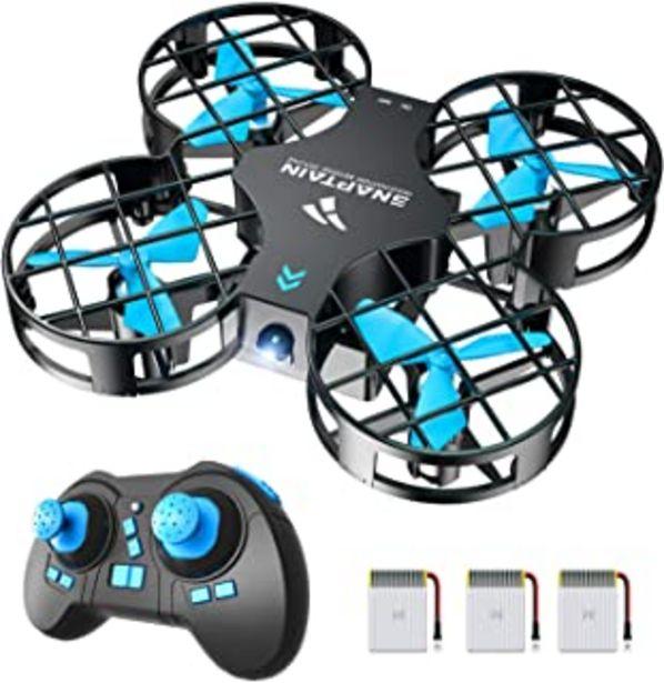 Oferta de SNAPTAIN Mini Drone H823H Plus con 3 baterías para 21 Minutos de Tiempo de Vuelo, Drone RC, Mini helicóptero quadrocopter ... por 29,99€