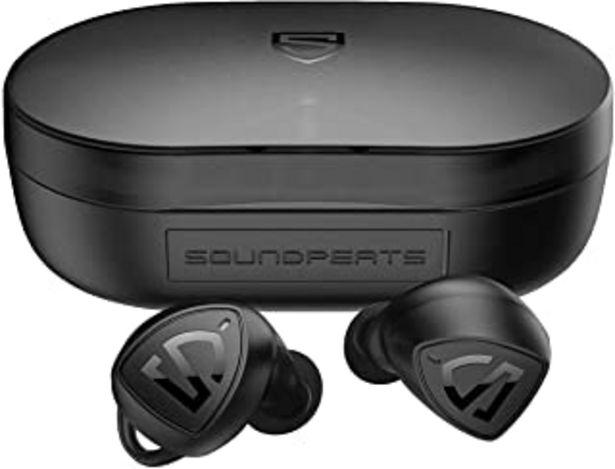 Oferta de Auriculares Inalámbricos SoundPEATS Trueshift 2 Cascos Bluetooth 5.0, con Control táctil, Impermeable IPX7, Sonido Estéreo... por 27,99€