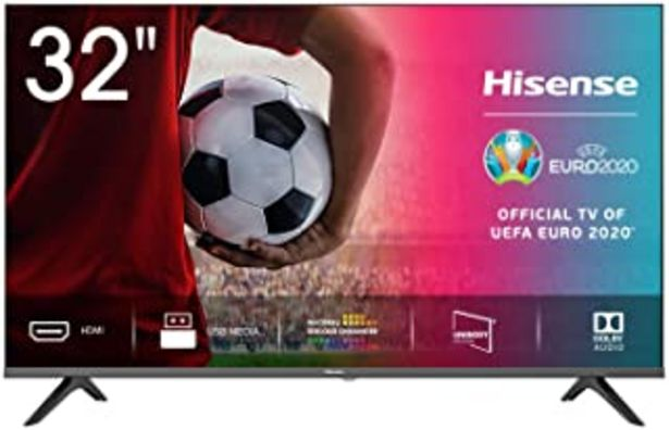 """Oferta de Hisense 32AE5000F - TV, Resolución HD, Natural Color Enhancer, Dolby Audio, HDMI, USB, Salida auriculares, TV HD 2020, 32"""" por 169€"""
