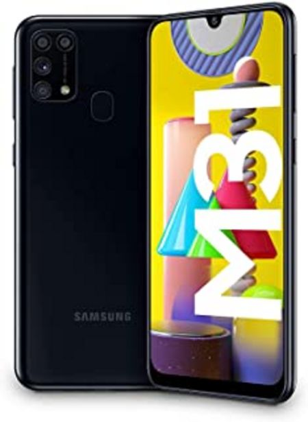 "Oferta de Samsung Galaxy M31 - Smartphone Dual SIM, Pantalla de 6.4"" sAMOLED FHD+, Cámara 64 MP, 6 GB RAM, 64 GB ROM Ampliables, Bat... por 229€"