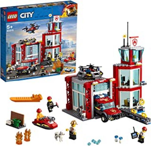 Oferta de LEGO City Fire - Parque de Bomberos, estación de juguete para construir, incluye camión, moto acuática y dron (60215) por 44,47€