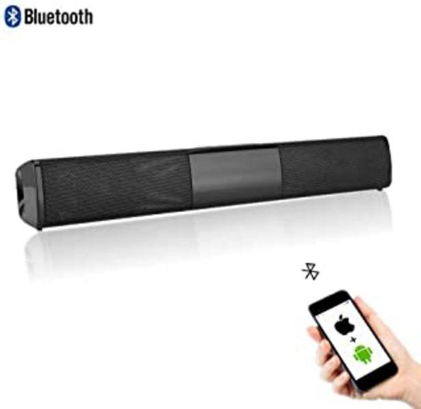 Oferta de Garsent Barra de sonido inalámbrica Bluetooth Soundbar altavoz Home Theatre estéreo Surround altavoz soporte U Disk, 4 hor... por 31,89€