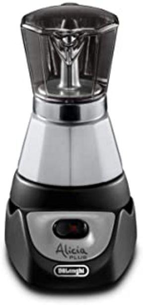 Oferta de De'Longhi Alicia EMKM 4 - Cafetera independiente, semi-automática, 450 W, 2-4 tazas, metal, negro/plata/transparente por 76,88€