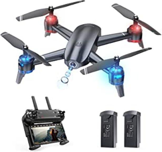 Oferta de Tomzon A26 Drone con Cámara HD 1080P, FPV Drone para Principiante DIY Ruta de Vuelo 22 Mins Vuelo Control de Gravedad Foto... por 89,99€