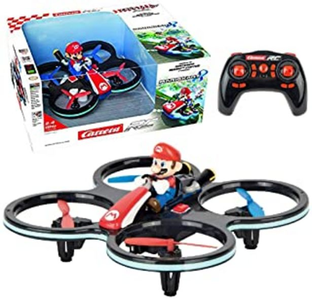 Oferta de Carrera- RC 2,4GHz Mini Mario Helicóptero, Multicolor (370503024) por 49,99€