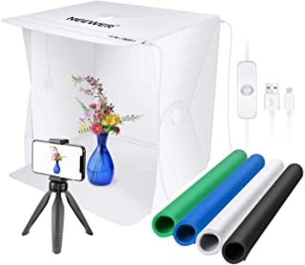 Oferta de Neewer 40cm Caja de Luz de Mesa para Fotografía 2 Tiras de LED/60 Cuentas de LED Tienda de Campaña Plegable para Estudio F... por 36,99€