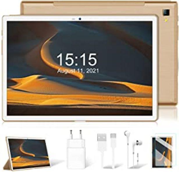 Oferta de Tablet 10 Pulgadas, Android 9.0 pie Google Certificación GMS Tablet PC, 4G LTE Dual SIM, Procesador Octa-Core 1.6 GHz, HD ... por 134,99€
