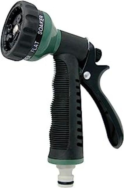 Oferta de Aqua Control C2079 Pistola 7 Formas riego, Verde Negro, 21x14x4 cm por 5,49€