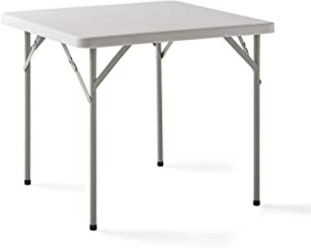 Oferta de KG KITGARDEN - Mesa Plegable Multifuncional, 84x84x74cm, Blanco, Folding C84 por 39,95€