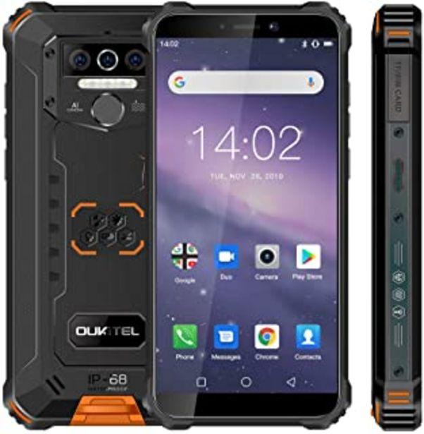 Oferta de Móvil Resistente, OUKITEL WP5 Telefono Movil Antigolpes, Batería Grande de 8000 mAh, 4GB RAM + 32GB ROM,5.5 Pulgadas,Cámar... por 110,49€