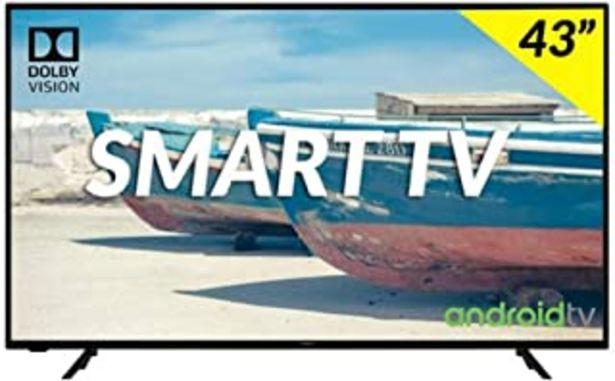 "Oferta de Hitachi 43HAK5751 Televisor 43"" LED HDR 4K Smart Android TV 1200BPI HDMI USB por 340,92€"