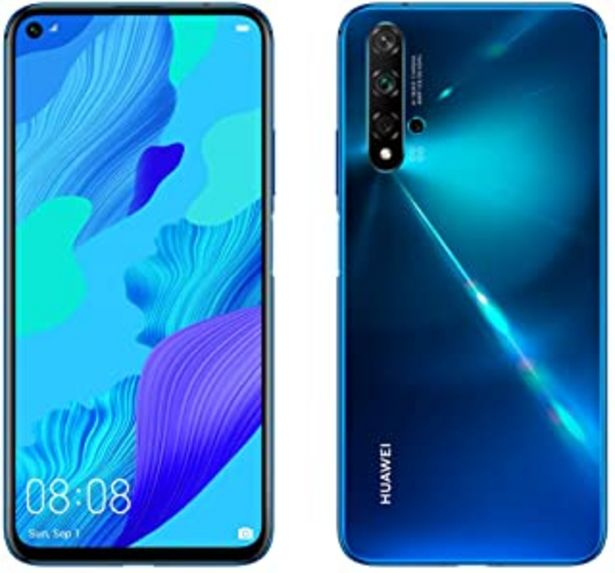 Oferta de Huawei Nova 5T, Smartphone (6GB de RAM, 128GB de Memoria Interna, 5 Cámaras IA, FullView Display, Sensor de Huella Lateral... por 256,13€