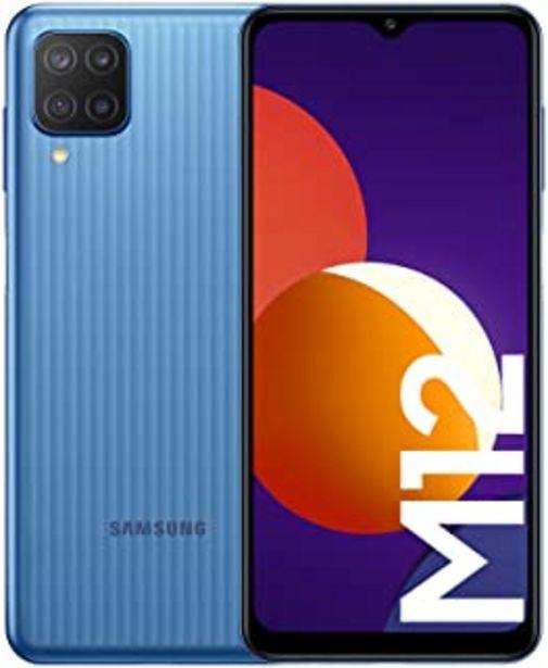 Oferta de Samsung Smartphone Galaxy M12 con Pantalla Infinity-V TFT LCD de 6,5 Pulgadas, 4 GB de RAM y 64 GB de Memoria Interna Ampl... por 186,16€