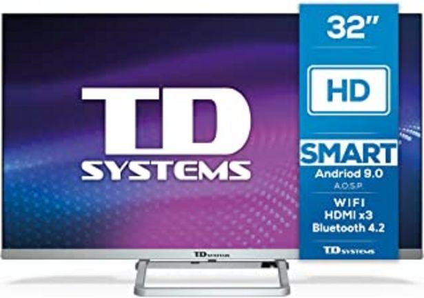 Oferta de TD Systems K32DLX11HS - Televisor Smart TV 32 Pulgadas Android 9.0 y HBBTV, 800 PCI Hz, 3X HDMI, 2X USB. DVB-T2/C/S2, Modo... por 179€