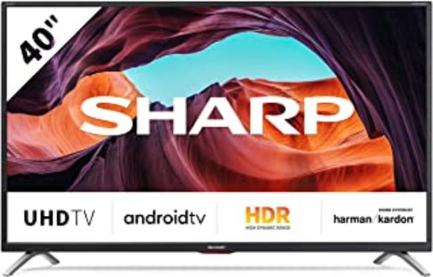 "Oferta de Sharp 40BL5EA - TV Android 40"" (4K Ultra HD, 4 x HDMI, 3 x USB, Bluetooth), color negro por 349,99€"