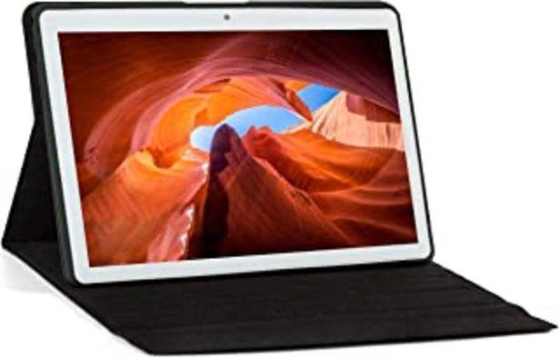 """Oferta de KISEDAR Tablet Android 10.0 10.1 """"PC4GB RAM 64GB Tablet Tableta desbloqueada de Cuatro núcleos, Adecuada para teléfono móv... por 103,99€"""