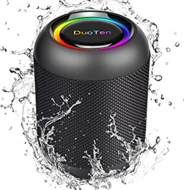 Oferta de DuoTen Altavoz Bluetooth, Altavoz Portatil Bluetooth Con Luces, IPX7, 24 Hora, 20W, Sonido Envolvente De 360 °, Graves Pro... por 30,59€