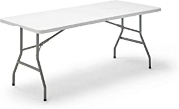 Oferta de KG KITGARDEN - Mesa Plegable Multifuncional, 180x74x74cm, Blanco, KG Folding 180 por 52,45€