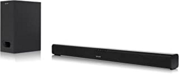 Oferta de Sharp HT-SBW110 2.1 Slim - Barra de Sonido Cine en casa (Bluetooth, HDMI ARC/CEC, 180 W, Audio óptico Digital, AUX, 80 cm)... por 109,99€
