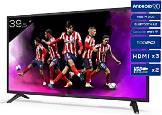 Oferta de TD Systems K40DLJ12FS - Televisores Smart TV 39,5 Pulgadas Full HD Android 9.0 y HBBTV, 1100 PCI Hz, 3X HDMI, 2X USB. DVB-... por 249,01€