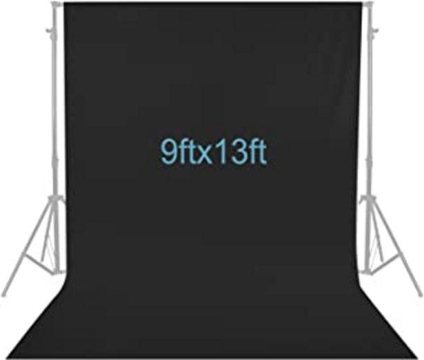Oferta de Neewer 2,8 x 4 Metros Fotografía Fondo Foto Video Estudio Pantalla de Fondo de Telón Fondo de Tela (Negro) por 25,99€