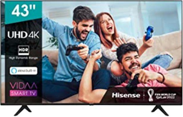 Oferta de Hisense 43AE7000F UHD TV 2020 - Smart TV Resolución 4K con Alexa integrada, Precision Colour, escalado UHD con IA, Ultra D... por 349€