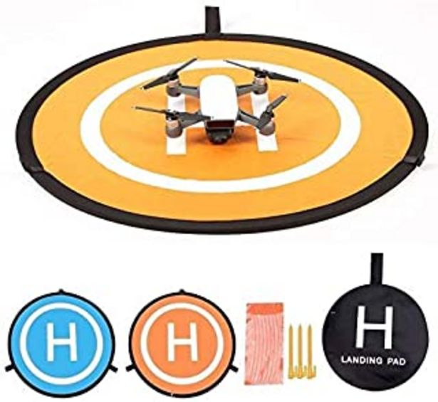 Oferta de KINGWON 55cm Plegable Drone Landing Pad Pista de Aterrizaje Portátil para dji Mavic Pro, dji Mavic Air, dji Spark, dji Tello por 15,99€