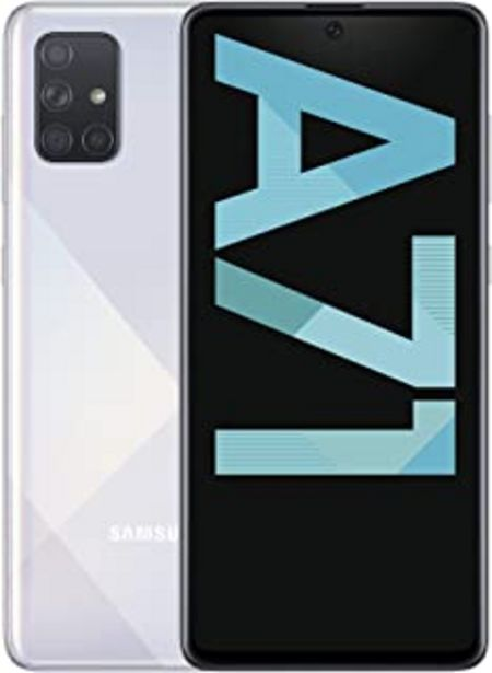 "Oferta de Samsung Galaxy A71 - Smartphone de 6.7"" FHD+ (4G, Dual SIM, 6 GB RAM, 128 GB ROM, Cámara Trasera 64.0 MP + 12.0 MP (UW) + ... por 295,47€"