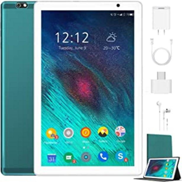 Oferta de Tablet 10.1 Pulgadas 4G Android 10.0 Quad Core DUODUOGO G20 Tablet 4GB RAM 64GB ROM/128GB Escalables 8000mAh Doble SIM/Cám... por 98,69€