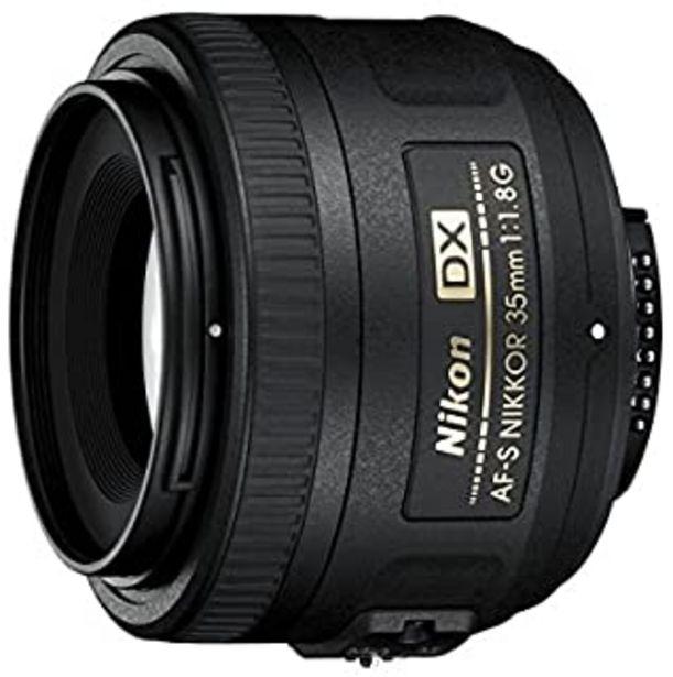 Oferta de Nikon AF-S DX Nikkor 35 mm f/1.8 G - Objetivo para montura F, distancia focal fija 52.5 mm, apertura f/1.8G, negro - Versi... por 179€