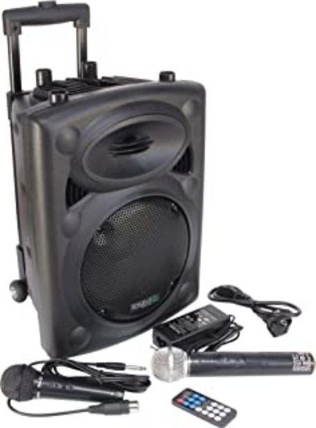 Oferta de Ibiza Sound PORT8VHF-BT Sistema de sonido portátil y autónomo de 20 cm, Bluetooth, Wireless, potencia de 200 W con un alca... por 139,95€