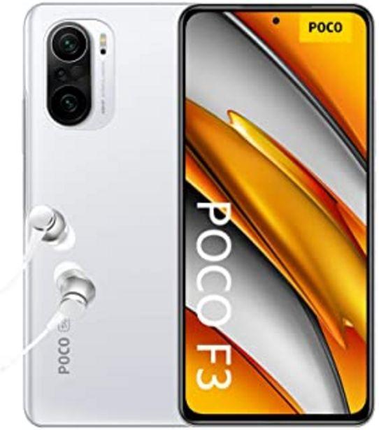 "Oferta de POCO F3 5G - Smartphone 8+256GB, 6,67"" 120 Hz AMOLED DotDisplay, Snapdragon 870, cámara triple de 48MP, 4520 mAh, Blanco Á... por 359,99€"