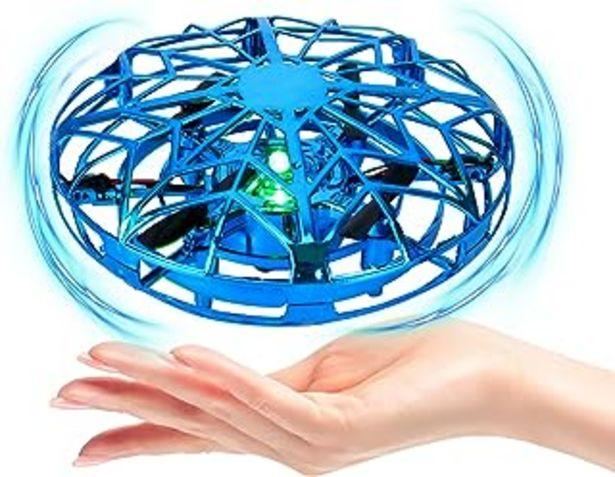 Oferta de Dron para Niños Mini Drone UFO Flying,Mini Drone UFO para Niños,Drone LED operado a Mano, Flying Ball Juguetes con girator... por 23,99€