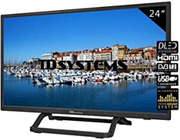"""Oferta de TD Systems K24DLX10H - Televisor 24"""", 1X HDMI, VGA, USB, 800 PCI Hz, Grabador Reproductor, DVB-T2/C/S2, Modo Hotel, Negro por 119€"""