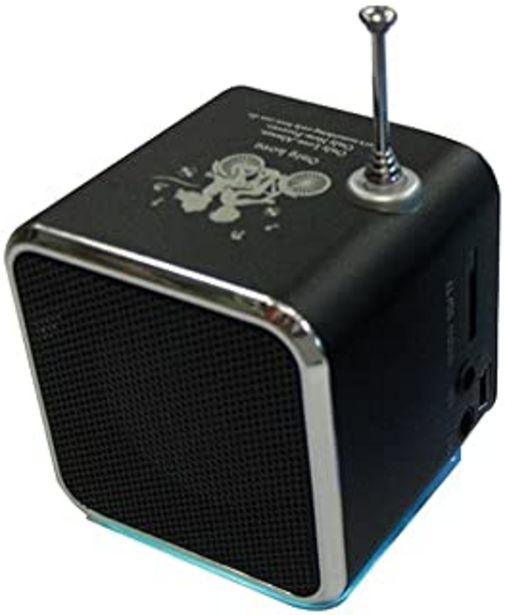 Oferta de UKCOCO Mini Altavoz portátil Reproductor de música Digital Compatible con Tarjeta Micro SD/TF con Radio FM (Negro) por 9,99€