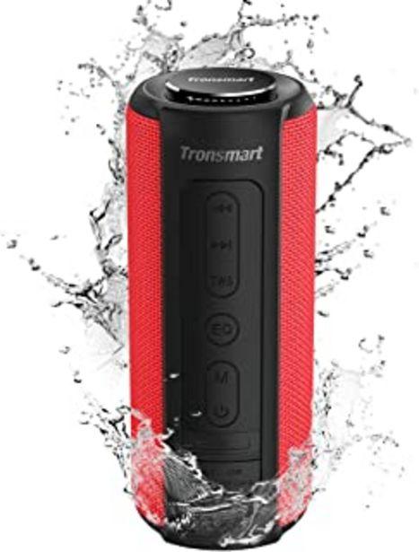 Oferta de Tronsmart T6 Plus Altavoces Bluetooth 40W, Altavoz Portatiles Waterproof IPX6 con Powerbank, 15 Horas de Reproducción, Son... por 55,19€