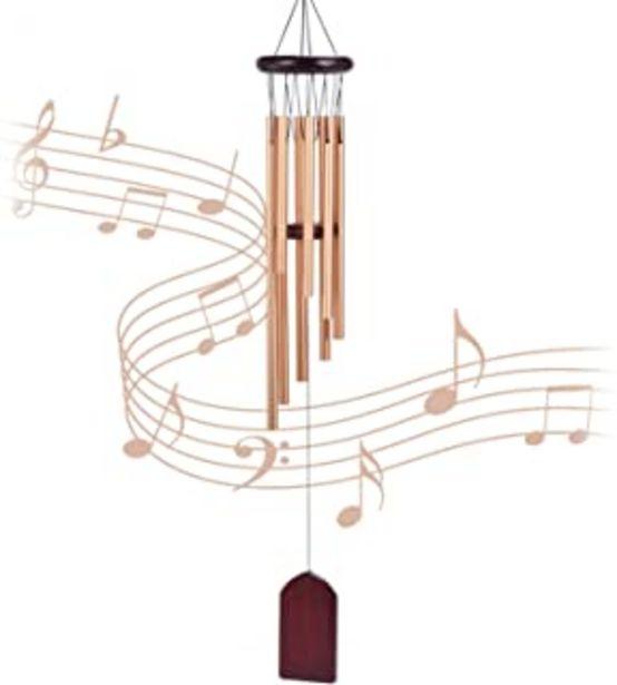 Oferta de Carrillon de viento exterior, 8 tubos de aleación de aluminio, ampanas de viento para jardin, arbol, casa de madera,decora... por 9,99€