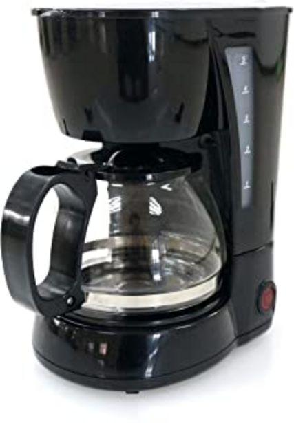 Oferta de Family Care Cafetera de Goteo, cafetera eléctrica, Jarra 0.6 litros para 4 Tazas, Acero inoxidable y plástico, color Negro... por 16,3€
