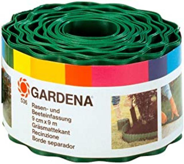 Oferta de Gardena 536-20 - Cercadillo para Césped, Verde, 9 cm x 9 m (Ancho x Largo) por 9,95€