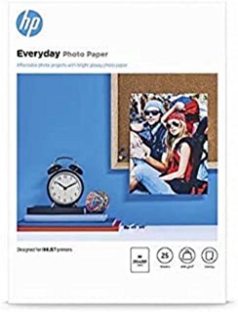 Oferta de HP Papel fotográfico, brillante a 4200g, 25hojas, Q 5451un por 8,4€