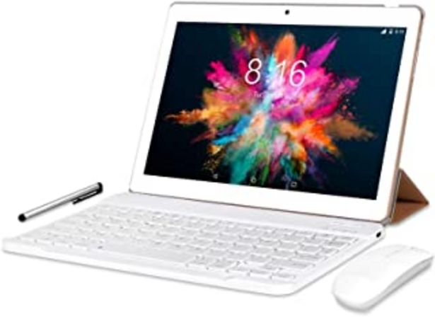 Oferta de 4G LTE Tablet 10 Pulgadas - BEISTA Android 9.0 Certificado por Google GMS,4 GB de RAM,64 GB de ROM,Dual SIM,Quad Core, 128... por 119,98€