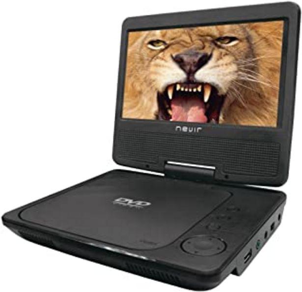 Oferta de Nevir DVD PORTATIL 7 NVR-2790DVD-PCU Negro USB por 43,4€