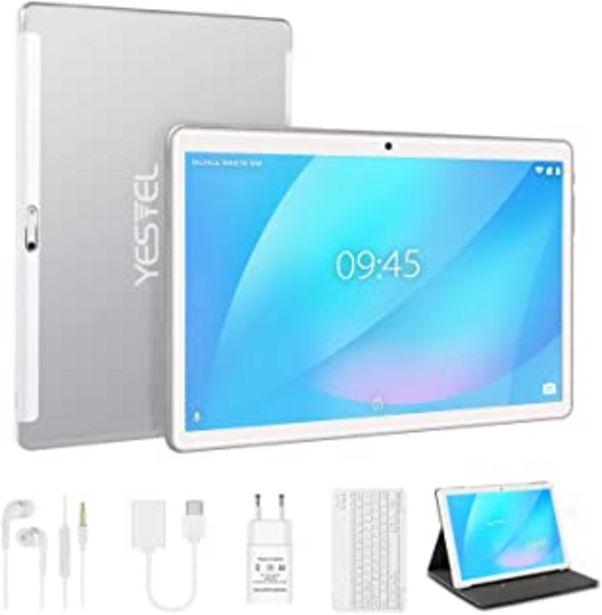 Oferta de Tablet 10 Pulgadas con 4GB RAM 64GB ROM Android 10 YESTEL Tablet con Teclado, Ampliables hasta 128GB/Pantalla HD IPS/Doble... por 125,99€