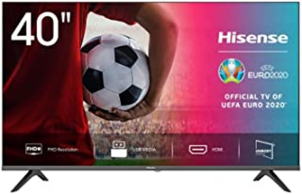 Oferta de Hisense FHD TV 2020 40AE5000F - Feature TV Resolución Full HD, Natural Color Enhancer, Dolby Audio, HDMI, USB, Salida auri... por 239€